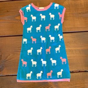 Girls Sheep 🐑Sweater Dress Crazy 8 Size Small 5/6